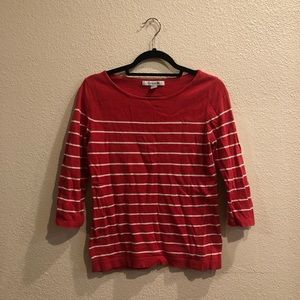 Forever 21 Red and White Stripped Sweater